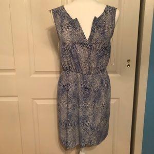 Dresses & Skirts - Blue and white polka dot dress size small
